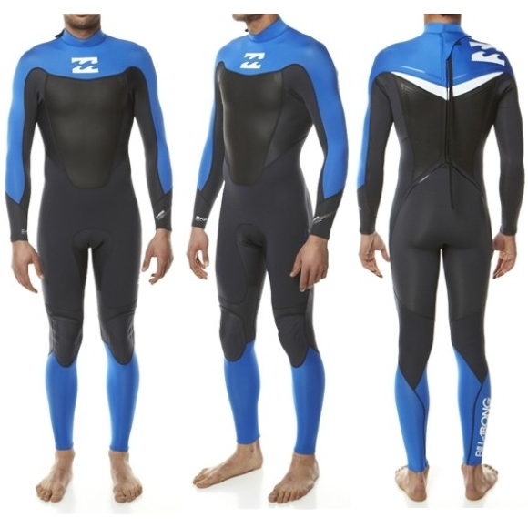 Billabong 3/2 mm Mens Foil Steamer Wetsuit Graphite/Blue