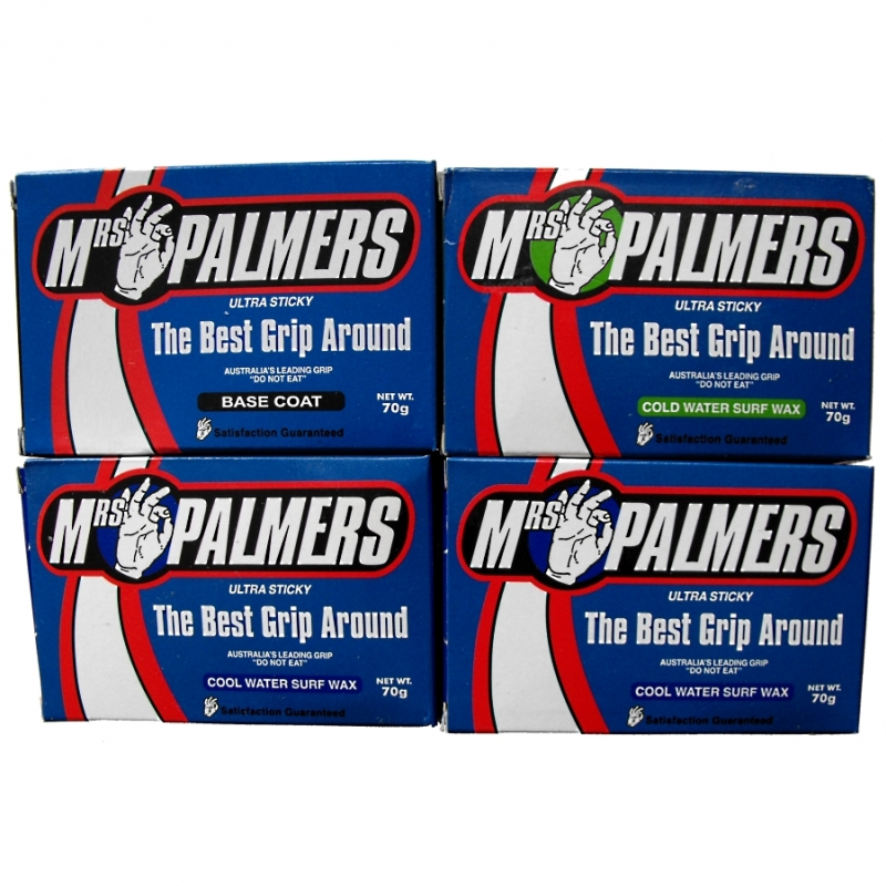 Mrs Palmers Surf Wax Base Cold and Cool Water 4 Block Pack