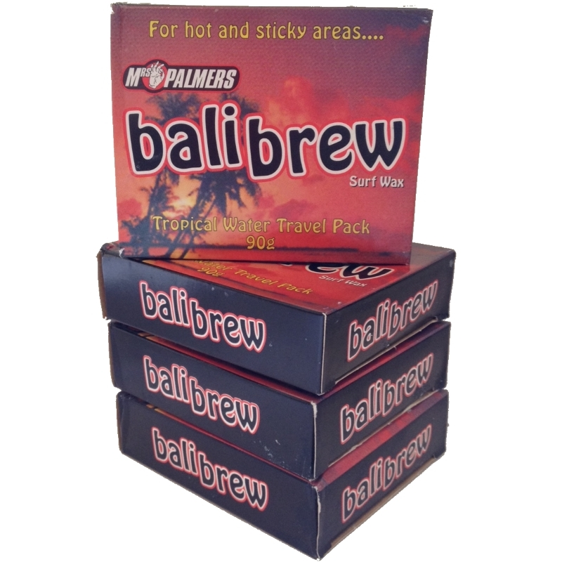 Mrs Palmers Bali Brew Tropical Water Surf Wax  - 4 Block Pack