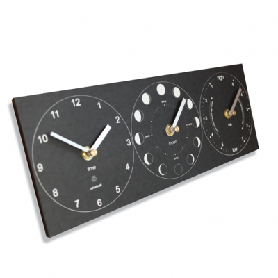 Ashortwalk Recycled Moon PhaseTime and Tide Clock