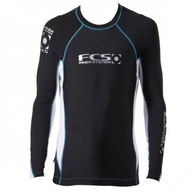 FCS Performance Rash Vest Black Blue