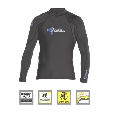 Xcel Drylock WRF Rash Vest Long Sleeved