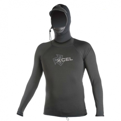 Xcel Long Sleeved Hooded Polypro Rash Vest