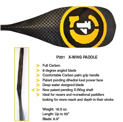 C4 Waterman X Wing SUP Race Paddle