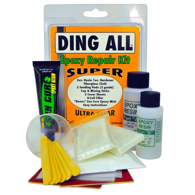 Ding All Super Epoxy Surfboard Repair Kit