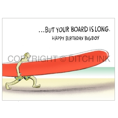 Surfers Birthday Greetings Card - Life Is Short