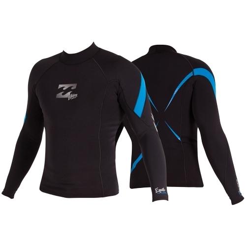 Billabong Mens Prizm Equator Long Sleeved Wetsuit Top Black
