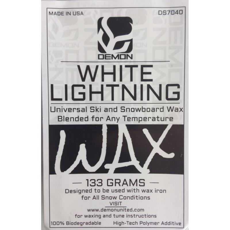 Demon White Lightning Ski and Snowboard Wax