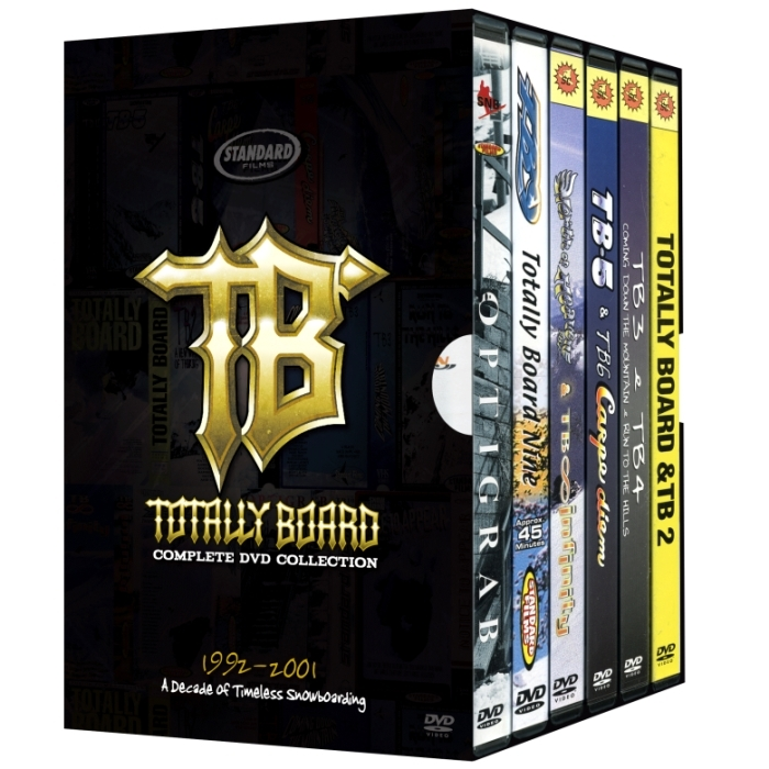 Totally Board 1-10 Box Set Snowboard DVDs By Standard Films