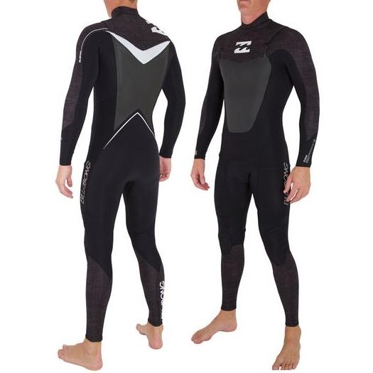 Billabong 3/2 Mens Foil Wetsuit Chest Zip Black Denim