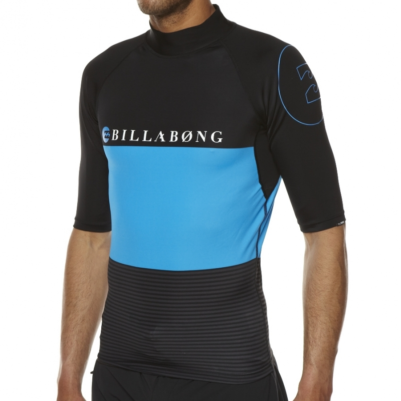 Billabong Rash Vest Spinner SS Black Blue
