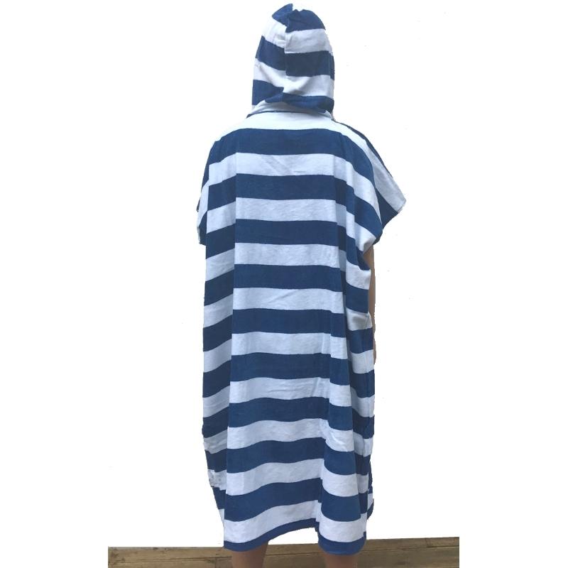Saltrock Ladies Beach Changing Robe Striped Blue 0c92d7540