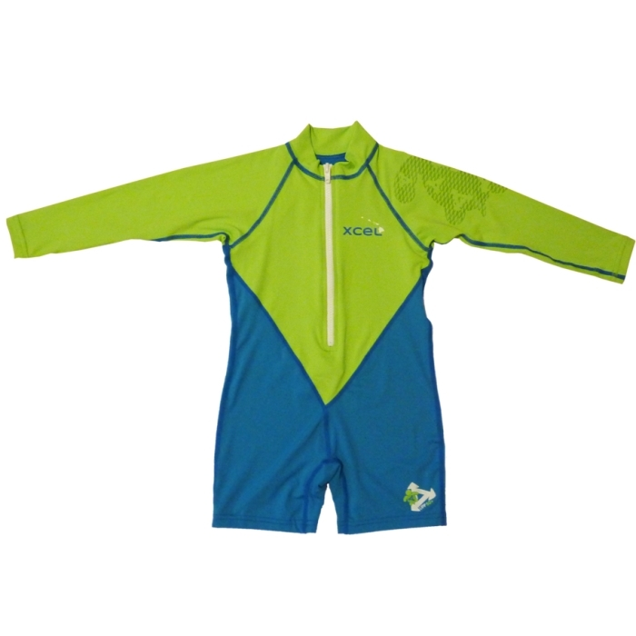 Xcel Kids UV Sunsuit Long Sleeved Green Blue