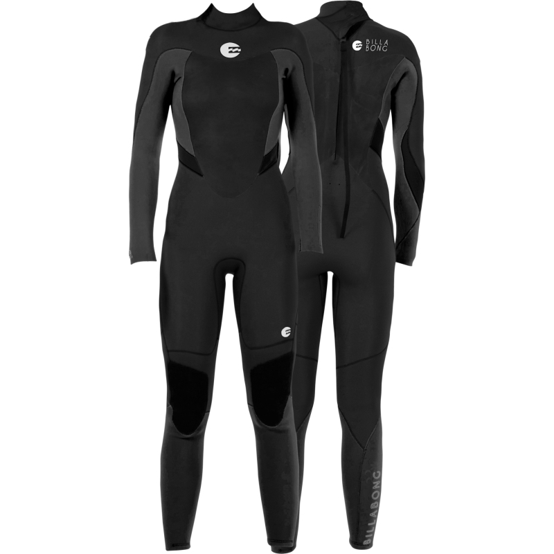 Billabong 5/4mm Womens Synergy Wetsuit Back Zip GBS Black