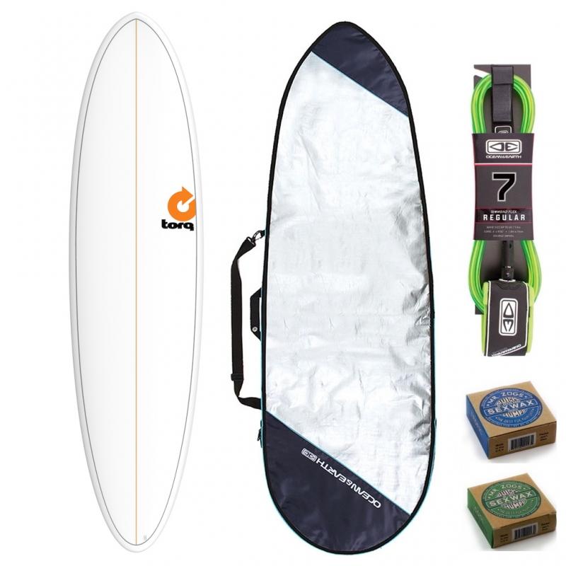 Torq 7ft2 Mod Fun Mini Mal Surfboard Package Pinline