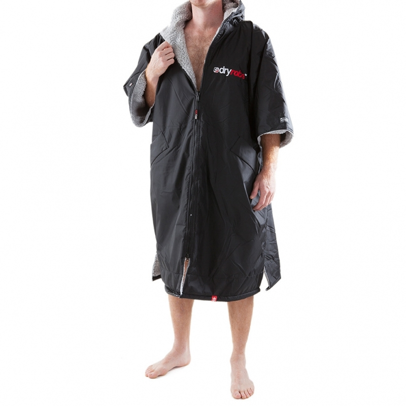 Dryrobe Advance Beach Changing Robe Black Grey
