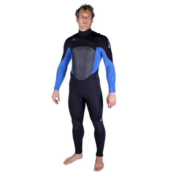 Xcel 5/4 mm Infiniti Wetsuit X2 Chest Zip QD Black Blue