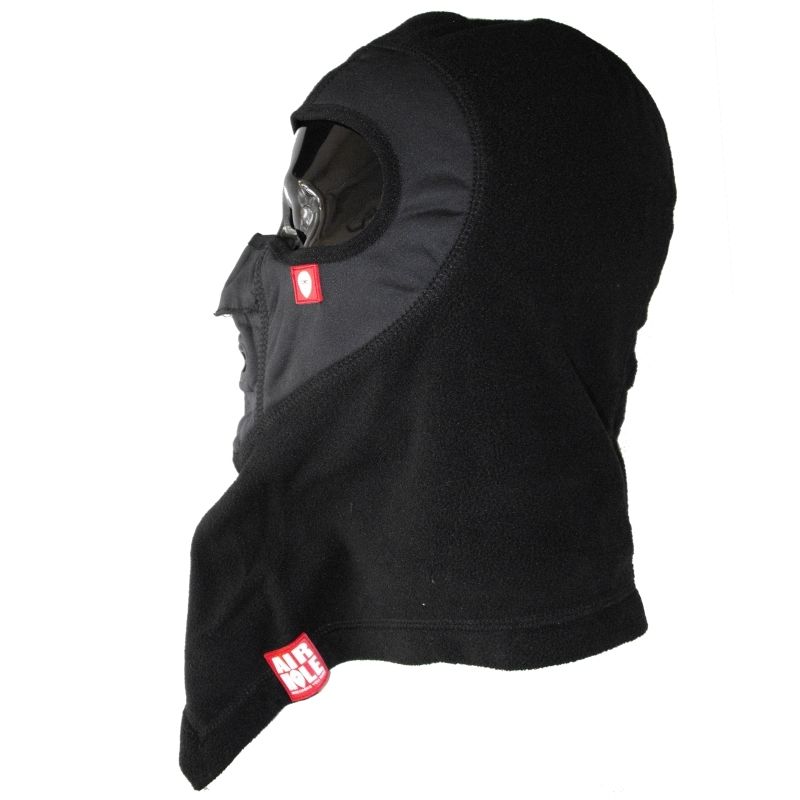 Airhole Ski and Snowboard Mask Balaclava Black Fleece