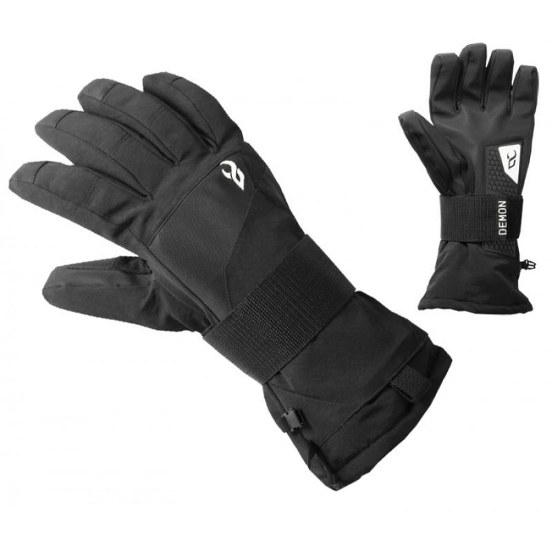 Demon Mens Snowboard Gloves With Wristguard Cinch
