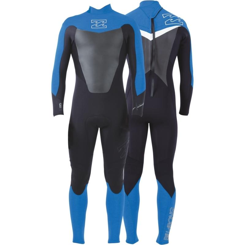 Billabong 3/2 Mens Foil Wetsuit Back Zip Graphite Blue