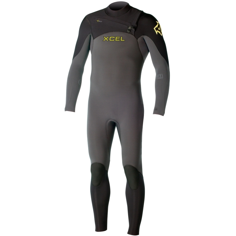 Xcel 3/2mm Infiniti Comp Wetsuit Chest Zip Graphite