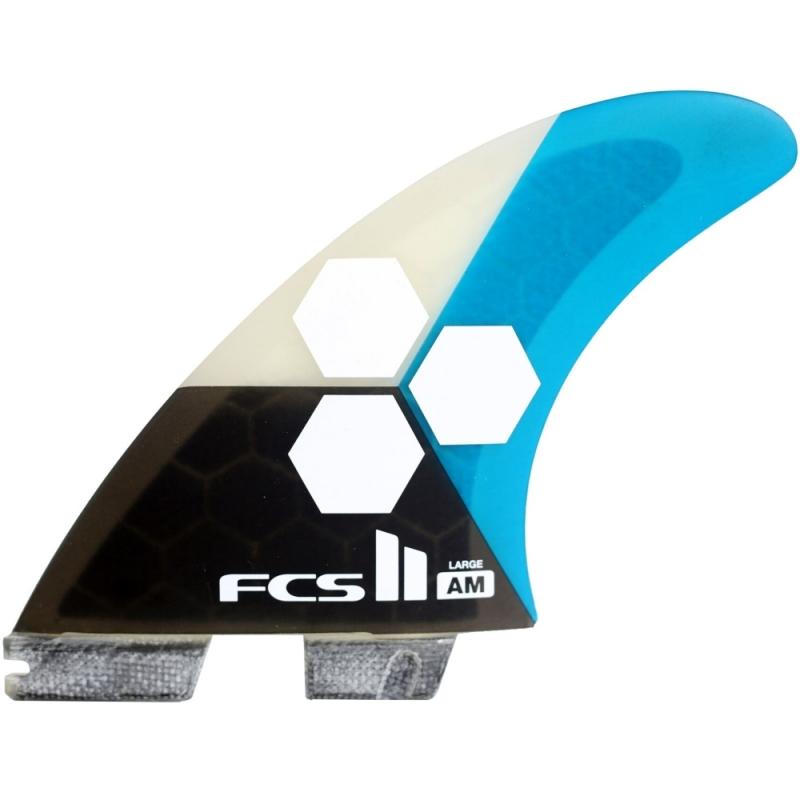 FCS II Al Merrick AM Thruster Surfboard fins Large