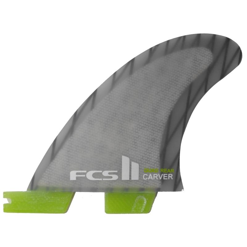 FCS II Carver PC Carbon Quad Rear Surfboard Fins