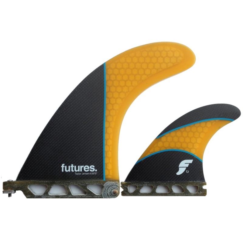 Futures Taylor Jensen 2+1 Longboard Surfboard Fin Set