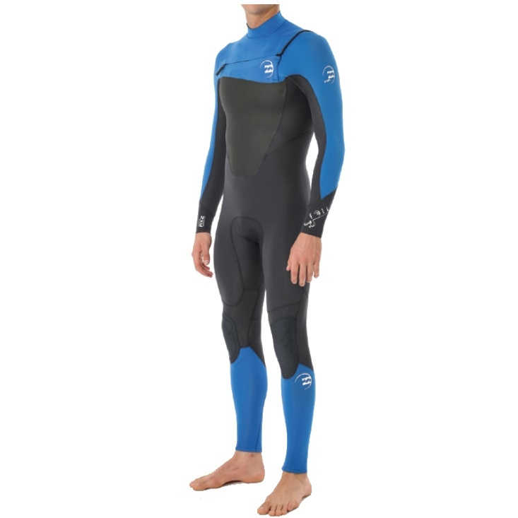 Billabong 4/3 Mens Foil Wetsuit Chest Zip GBS Ocean Blue