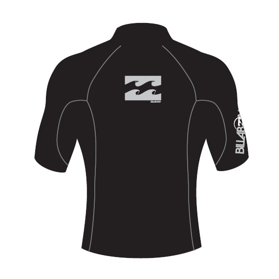 Billabong Rash Vest Wrap SS High Collar Black