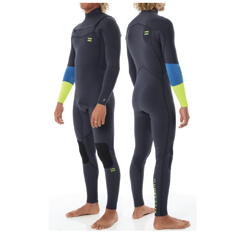 Billabong 4/3 Revolution Recycler Wetsuit Chest Zip - Lime
