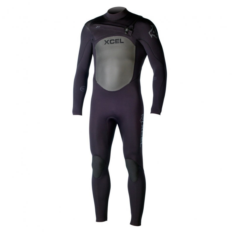 Xcel 4/3mm Infiniti TDC Wetsuit X2 Chest Zip Black