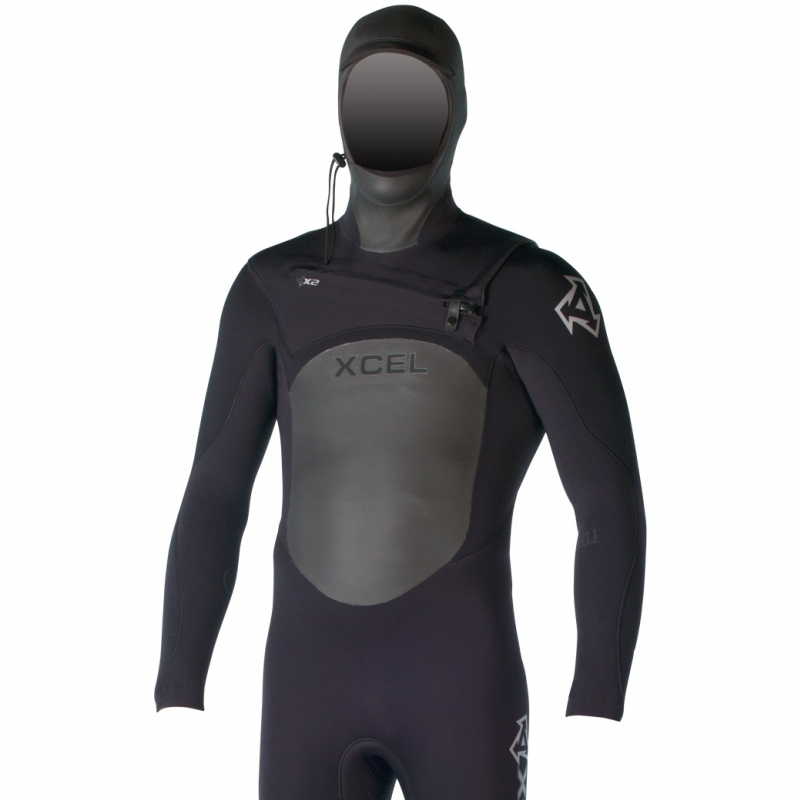 Xcel 5/4mm Hooded Infiniti TDC Wetsuit X2 Chest Zip Black