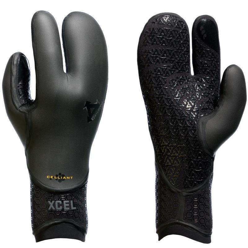 Xcel 5mm TDC Drylock 3 Finger Wetsuit Mitt Gloves