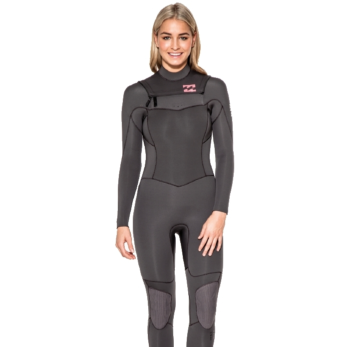 Billabong 5/4mm Womens Synergy Wetsuit Chest Zip Off Black