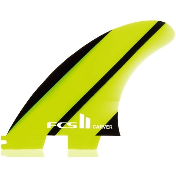 FCS II Carver Neo Glass Thruster Surfboard Fins Medium