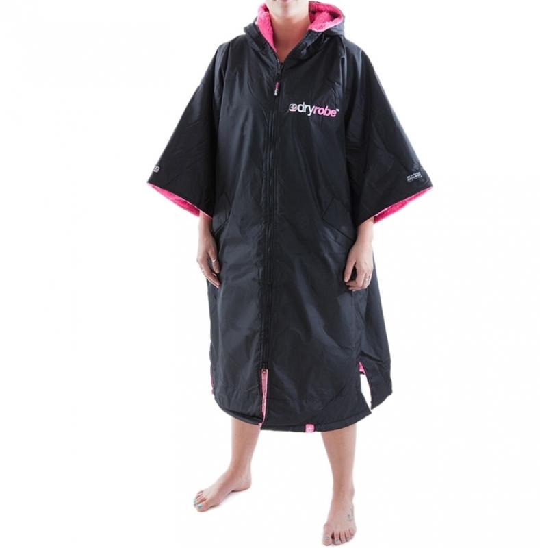 Dryrobe Advance Beach Changing Robe Black Pink
