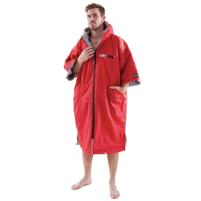 Dryrobe Advance Beach Changing Robe Red Grey