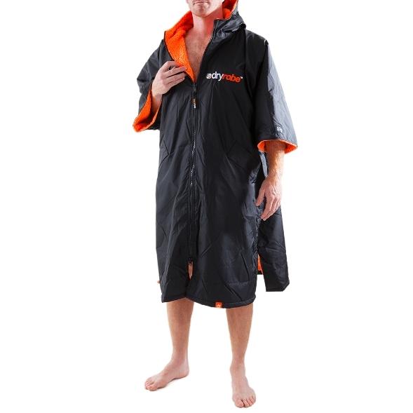 Dryrobe Advance Beach Changing Robe Black Orange