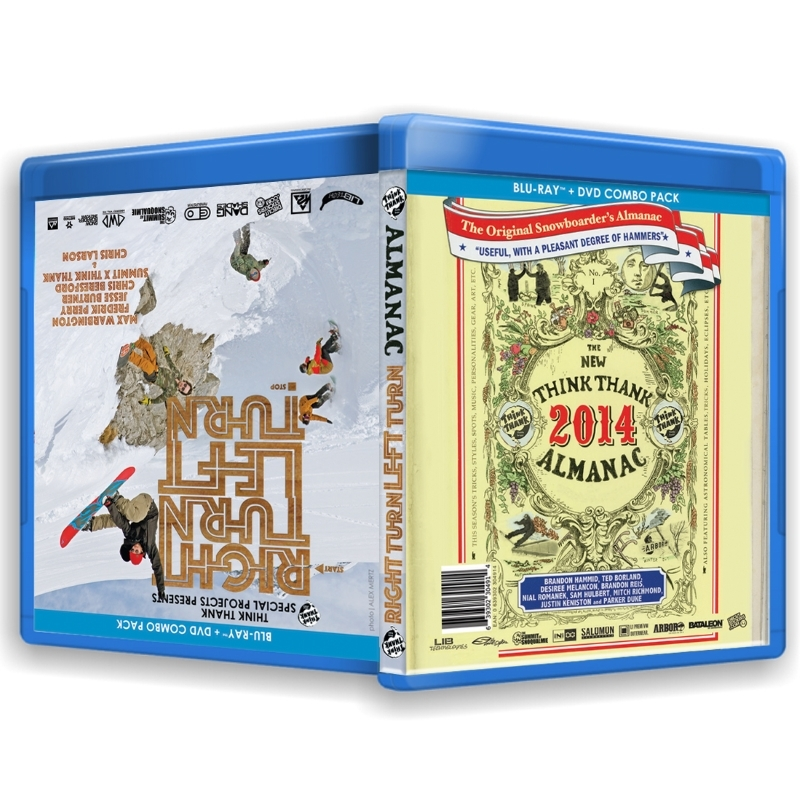 Think Thank Right Turn Left Turn and Almanac Blu-ray DVD combo pack