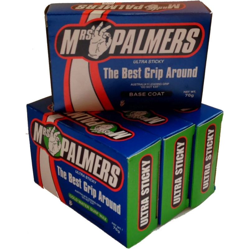 Mrs Palmers Surf Wax Base and 3 Cold Water 4 Block Pack