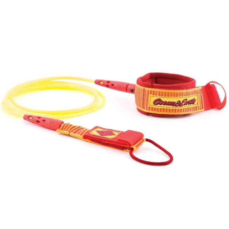 Ocean Earth Heritage Surfboard Leash 6ft Orange Yellow