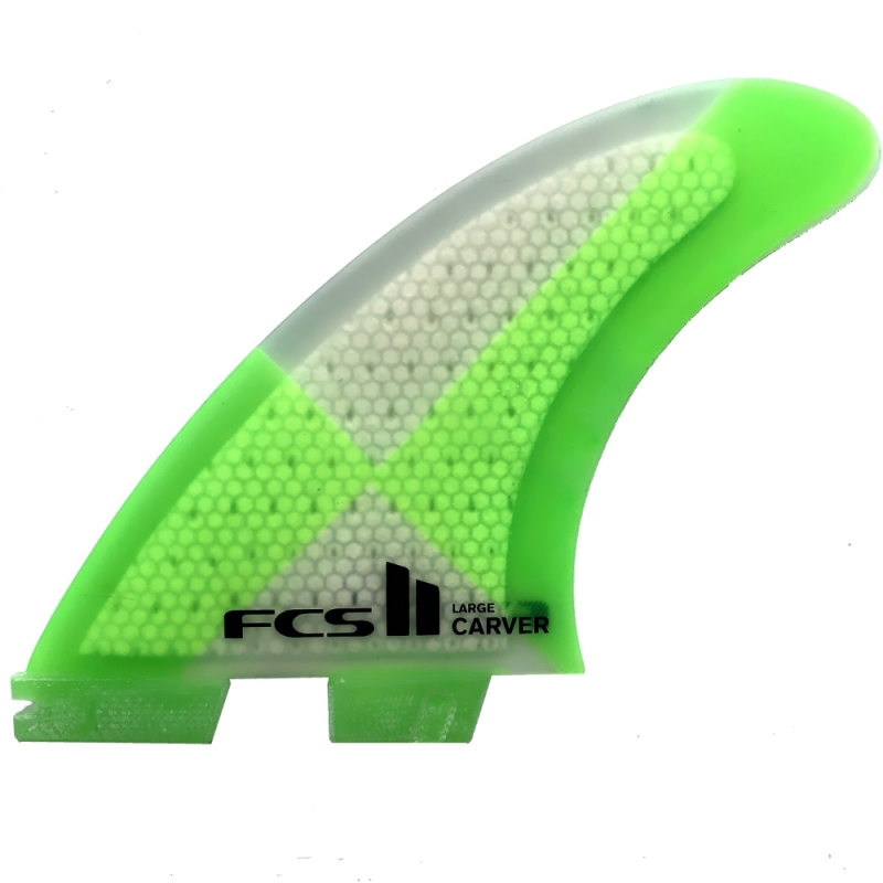 FCS II Carver PC Thruster Surfboard Fins Large