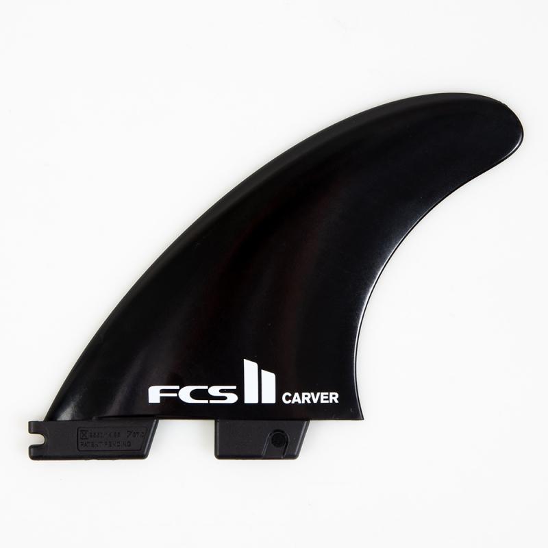 FCS II Carver Glass Flex Thruster Surfboard Fins Large