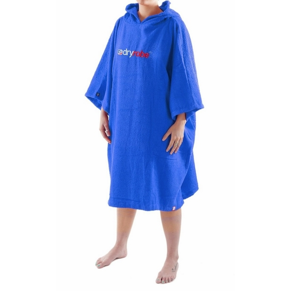 e952c6a349 Dryrobe Royal Blue Toweling Beach Changing Robe Short Sleeved