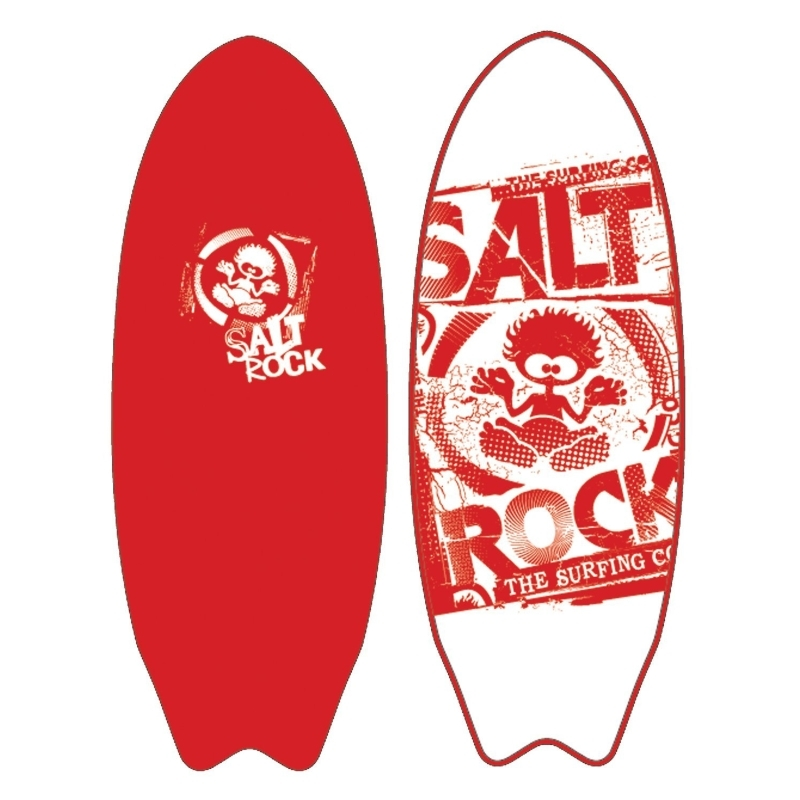 saltrock 6ft soft surfboard ripper red