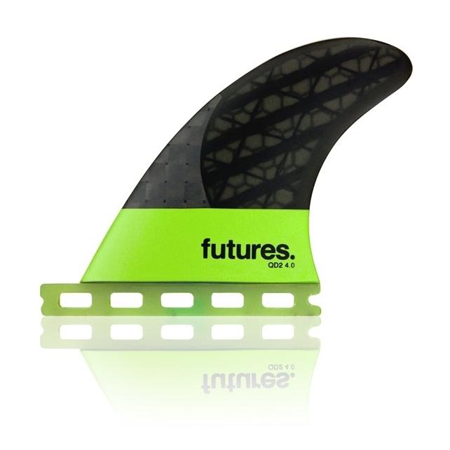 Futures Fins Blackstix QD2 400 Quad Rear Surfboard Fin Set