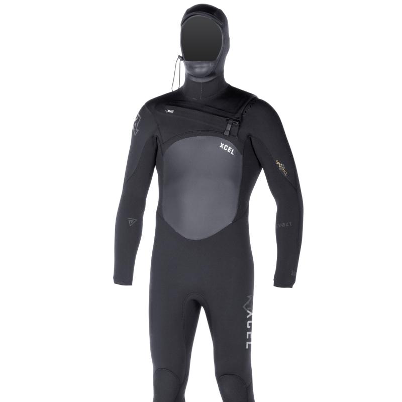 Xcel Hooded Revolt TDC 5/4mm Wetsuit Black