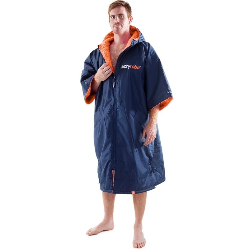 Dryrobe Advance Beach Changing Robe Navy Orange