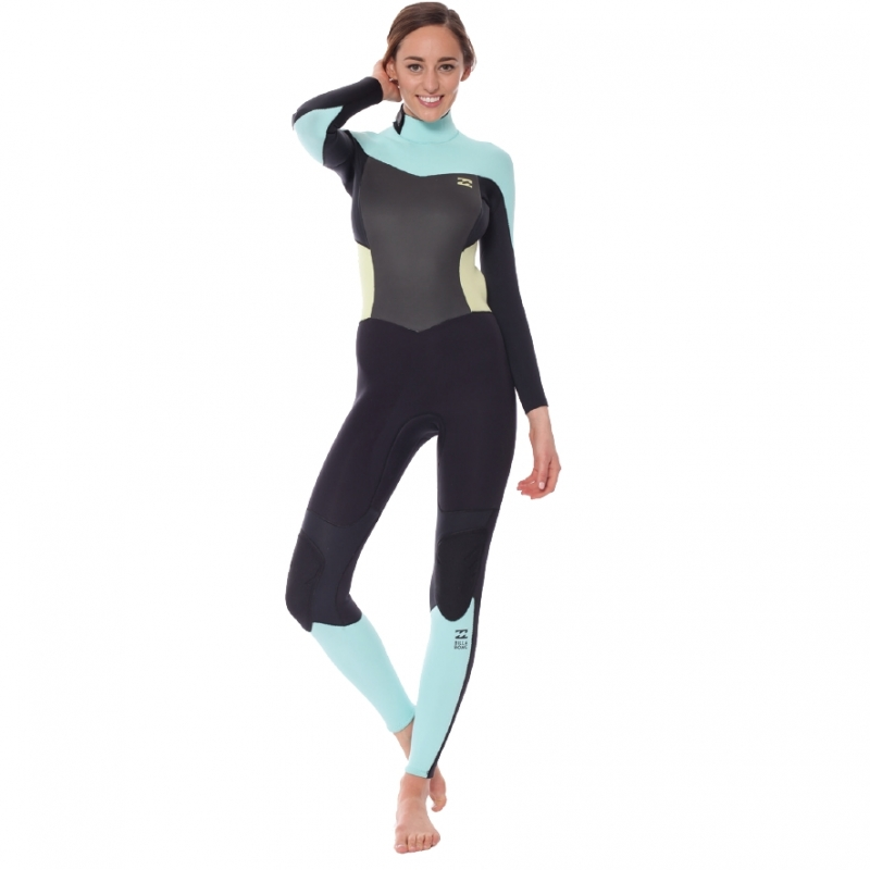 Billabong 3/2 Ladies Synergy Wetsuit Black Ice Back Zip